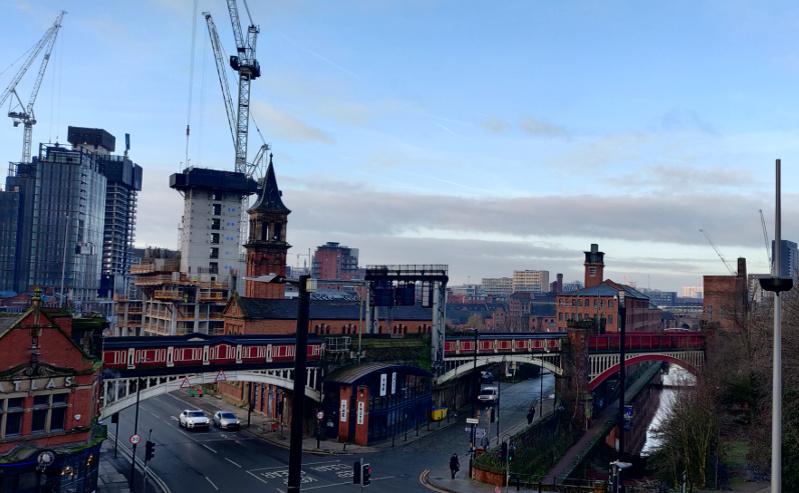 Manchester city centre construction