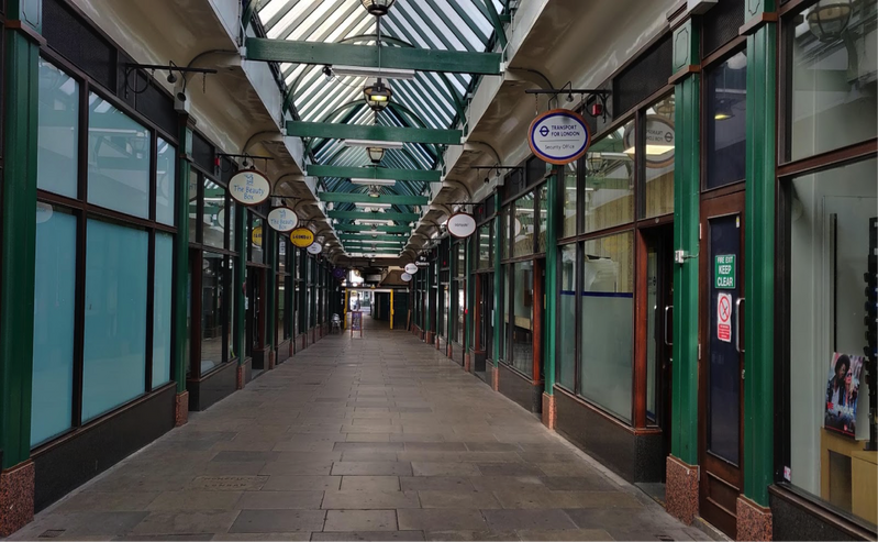The Arcade Liverpool Street London